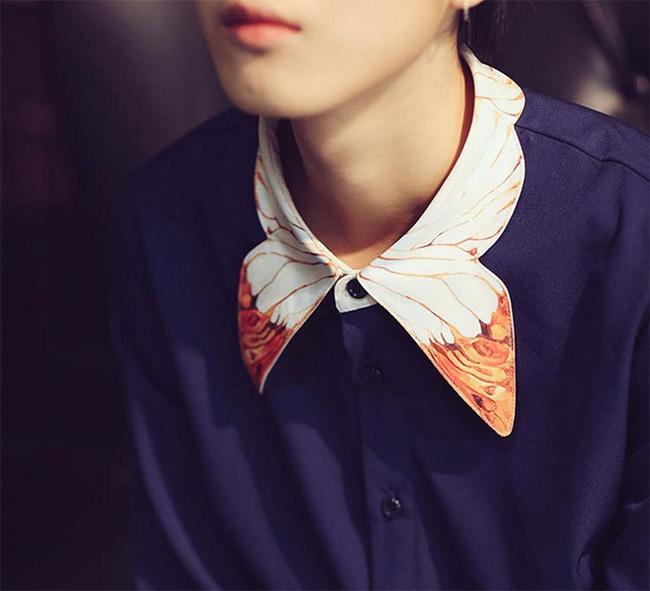 10 gợi ý cổ áo sơ mi độc - đẹp - lạ dành cho các bạn nữ - Ảnh 3.