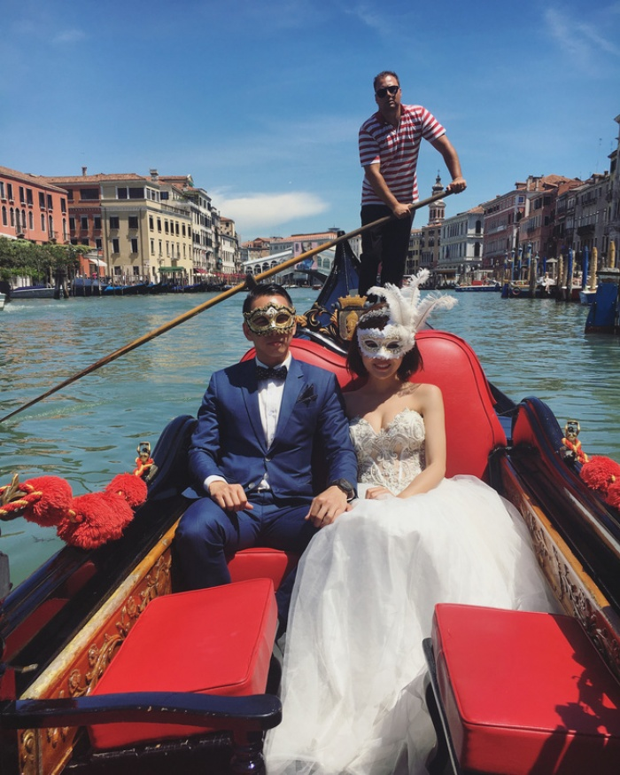 Tú Linh M.U khoe ảnh cưới cực hạnh phúc và lãng mạn được chụp ở 3 nước