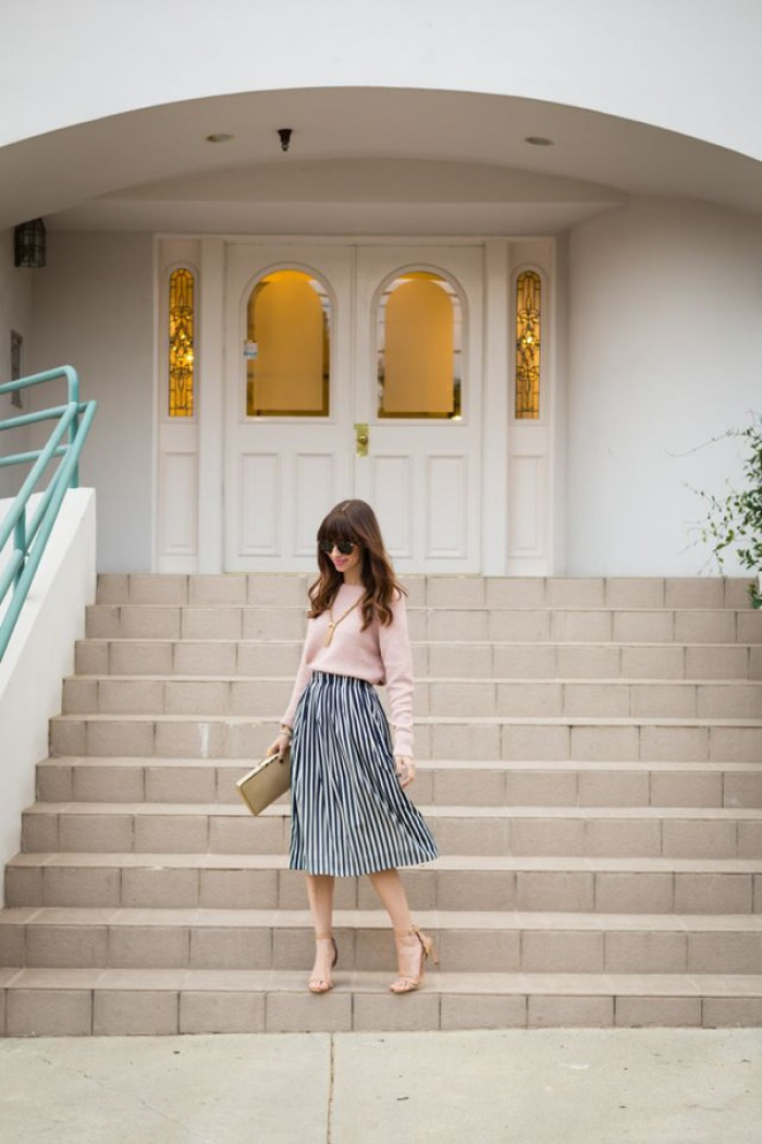 Chân váy midi dáng xòe - muốn mặc đẹp không hề khó! - Ảnh 7.