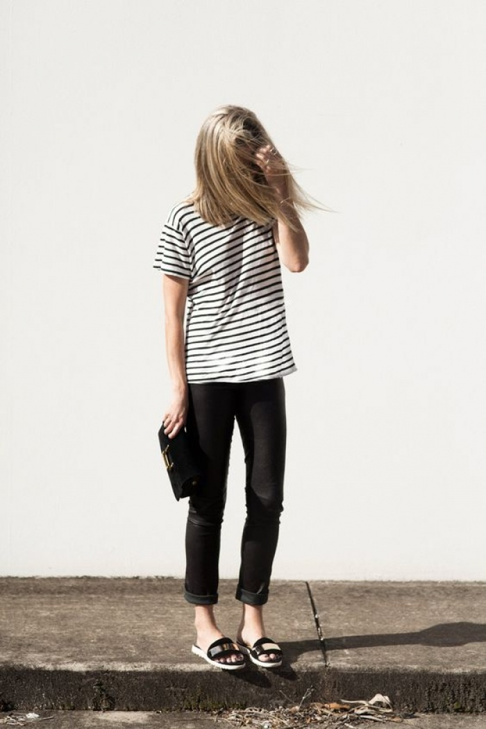 Bạn có công nhận là dù thời trang có thế nào thì áo phông kẻ ngang vẫn là bất hủ nhất! - Ảnh 2.