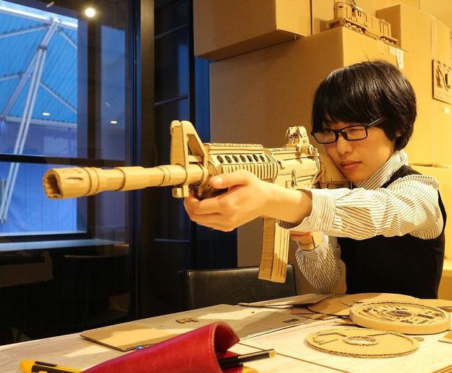 Cô gái Nhật biến bìa các-tông vứt đi thành những mô hình 3D sắc nét - Ảnh 7.