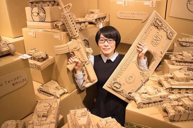 Cô gái Nhật biến bìa các-tông vứt đi thành những mô hình 3D sắc nét - Ảnh 5.