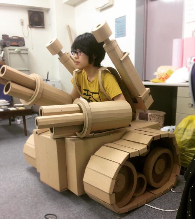 Cô gái Nhật biến bìa các-tông vứt đi thành những mô hình 3D sắc nét - Ảnh 3.