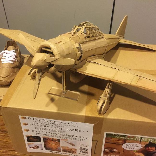 Cô gái Nhật biến bìa các-tông vứt đi thành những mô hình 3D sắc nét - Ảnh 11.