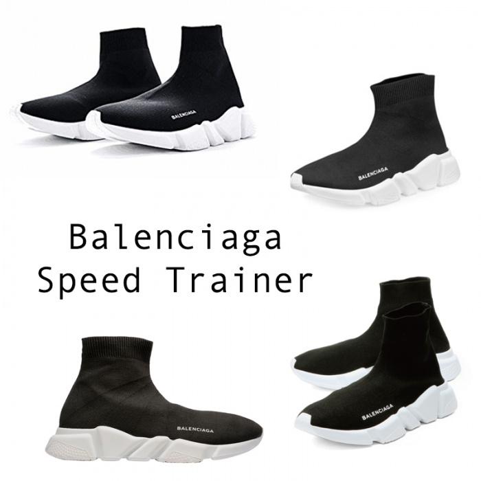 Demna Gvasalia - Giám đốc sáng tạo củaBalenciaga đã cho ra mắt một sản phẩm giày mang tên Balenciaga Speed Trainer. Thiết kế này bao gồm:vớ đan, bộ giảm shock, nặng khoảng 240g ngoài ra biểu tượng Balenciaga được in nổi trên đế giày.