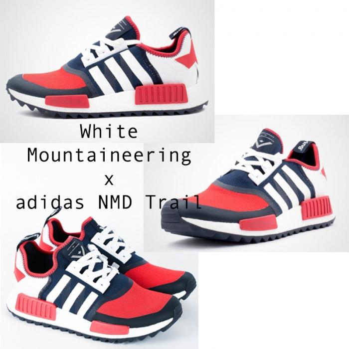 Adidas NMD là một trong những đôi giày thể thao đa năng nhất vào năm 2016 và chắc chắn Adidas sẽ giữ lấy phong độ đó vào năm 2017. Adidas kết hợp với nhãn hiệu thời trang hàng đầu - White Mountaineering cho một phiên bản giày phù hợp cho các hoạt động thể thao ngoài trời như leo núi.