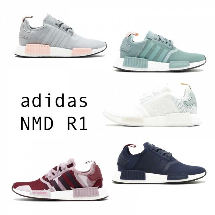 """Thời gian qua, mẫu sneaker NMD của Adidas đã """"làm mưa làm gió"""" khắp nơi và trở thành một trong những đôi giày khẳng định sự sành điệu, chịu chơi của các bạn trẻ. Điểm cộng của Adidas NMD R1 có rất nhiều màu sắc để các tín đồ của mình tha hồ lựa chọn màu sắc phù hợp. Adidas NMD R1 sẽ làm bạn hài lòng, cho dù bạn yêu thích sự mạnh mẽ với sắc xanh đen hay nữ tính với màu trắng, hồng..."""