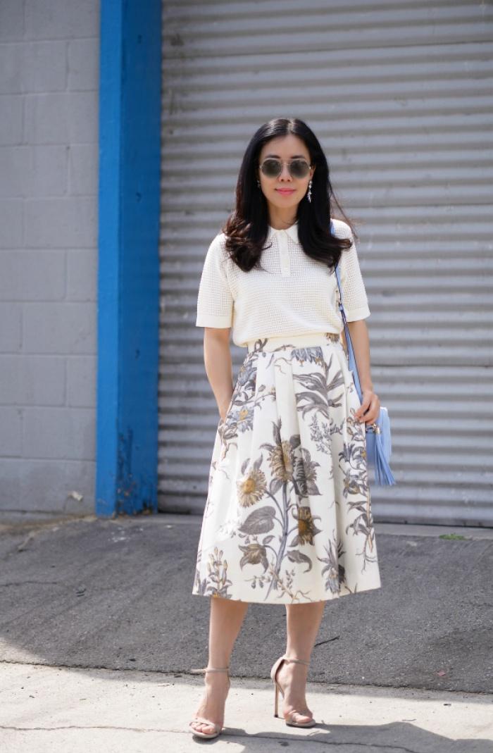 Đã có chân váy midi rồi thì phải sắm ngay 6 kiểu áo này, mặc vào đảm bảo nịnh dáng vô cùngĐâu là chiếc áo diện cùng chân váy midi có thể nịnh dáng nhất - Ảnh 7.