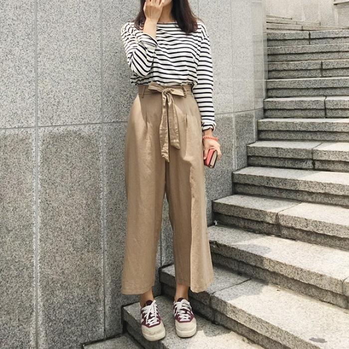 Ngay cả khi không thích quần vải, các cô nàng cũng sẽ đổ đứ đừ trước kiểu quần thắt nơ xinh xắn này - Ảnh 12.