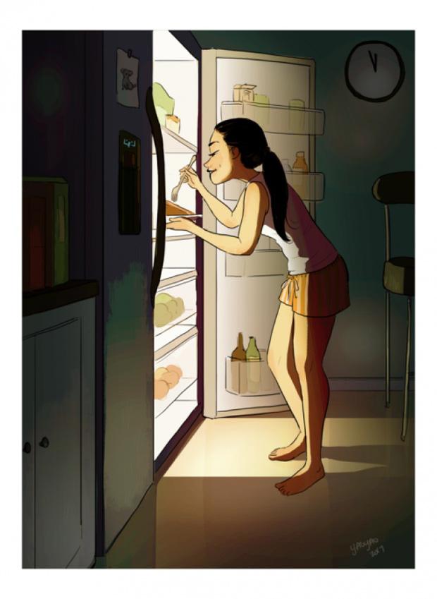 Đây chính xác là những gì vẫn diễn ra khi con gái sống 1 mình