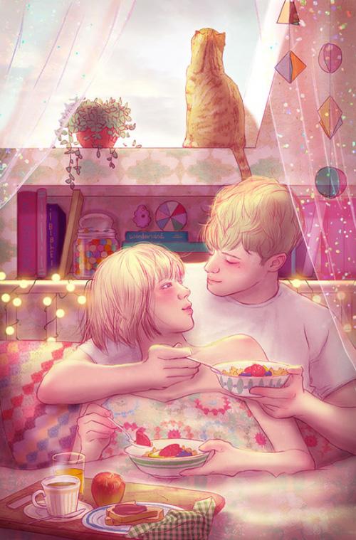 Ngắm nhìn bộ tranh tình yêu siêu ngọt ngào này, bạn cũng sẽ muốn được yêu ngay thôi