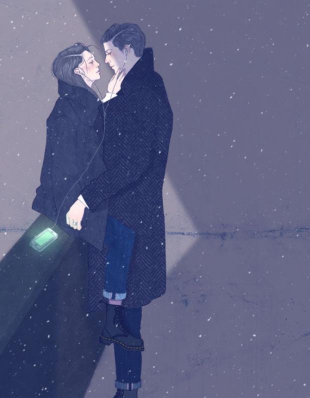 Ngắm nhìn bộ tranh tình yêu siêu ngọt ngào này, bạn cũng sẽ muốn được yêu ngay thôi - Ảnh 11.