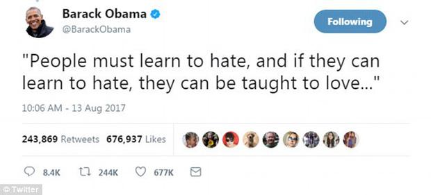 Cựu Tổng thống Mỹ Barack Obama đã xô đổ kỷ lục trên Twitter với dòng tweet nổi tiếng nhất mọi thời đại - Ảnh 2.