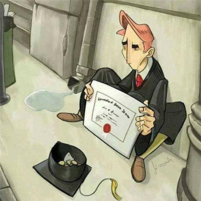 Nếu ai cũng nghĩ rằng tấm bằng đại học chính là bước đệm để đưa đường dẫn lối đi đến thành công thì thế giới này sẽ chỉ toàn những người giàu có.