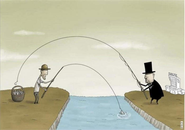 Người nghèo kiếm ăn bằng sức lao động của chính mình. Kẻ giàu kiếm ăn trên sức lao động của người nghèo.