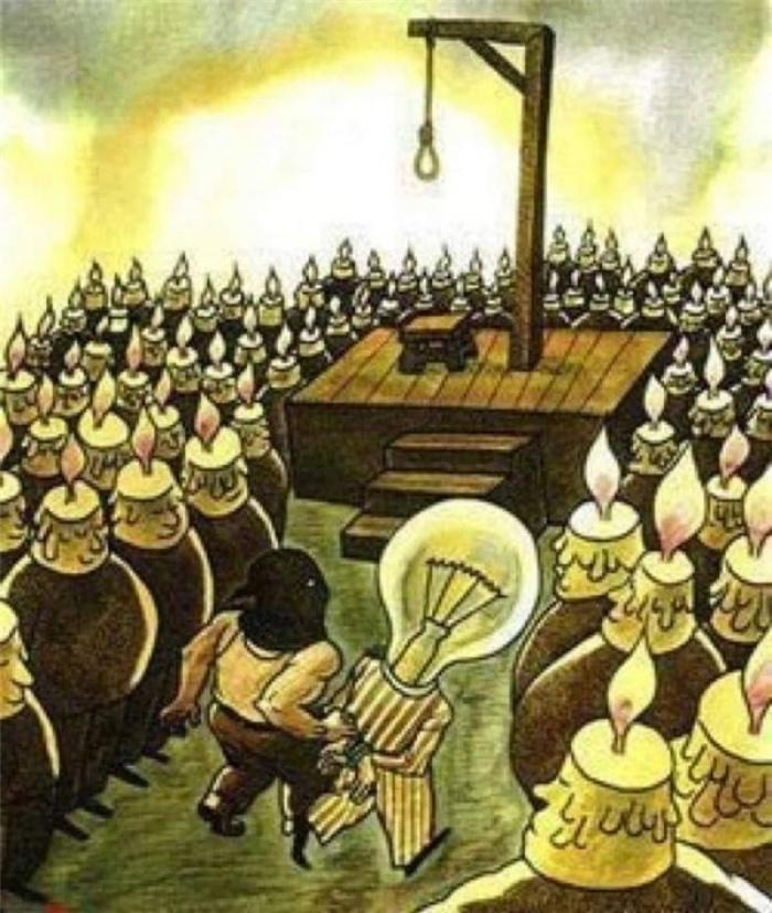 Trong một xã hội tăm tối, nếu bạn là ánh sáng thì hoặc là bạn sẽ trở thành chúa trời, hoặc là bạn sẽ bị xem là quỷ dữ.