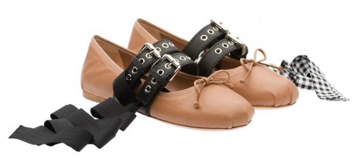Cận cảnh thiết kế giày búp bê nữ ấn tượng của Miu Miu