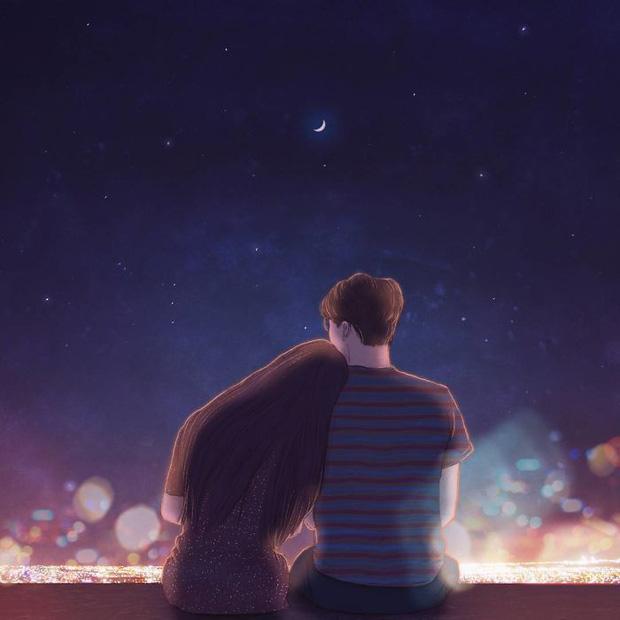 Bộ tranh: Bình yên chẳng ở nơi đâu xa lạ, chỉ là nơi có anh và có em