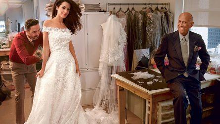 Cận cảnh chiếc váy cưới cộng lẫy của vợ ngôi sao George Clooney