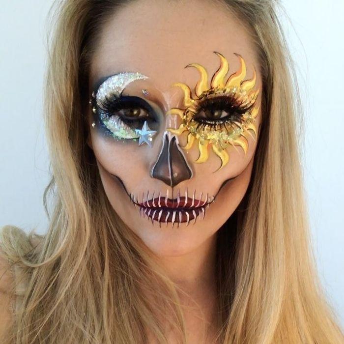 Mặt trời, mặt trăng và quỷ dữ đều cũng hiện lên gương mặt này.