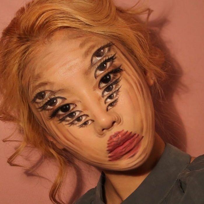 Những tác phẩm trang điểm của Yoon như đưa chúng ta vào ảo giác.