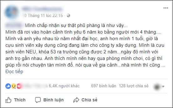 bestie moi tinh 6 nam khong bang nguoi con gai anh quen 4 thang
