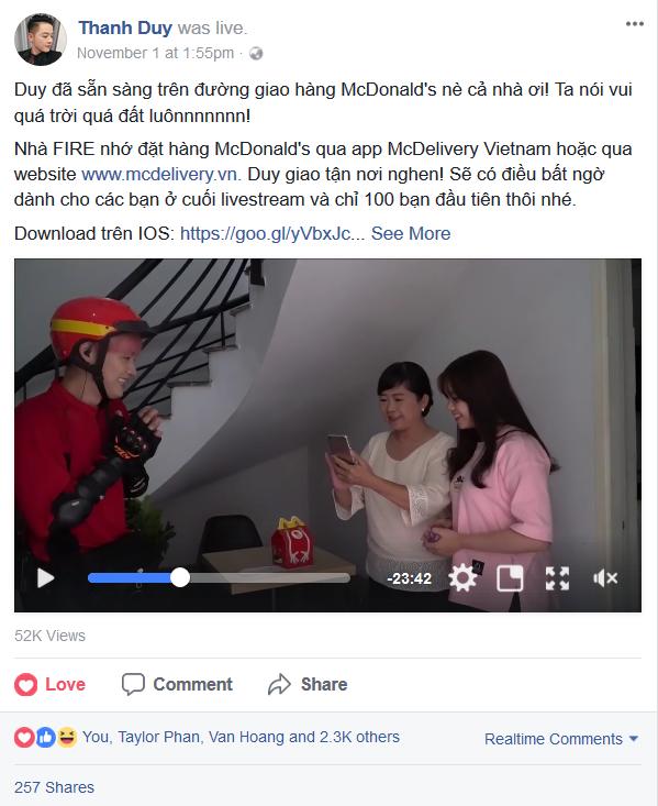 Cùng Thanh Duy trải nghiệm dịch vụ McDelivery 24/7