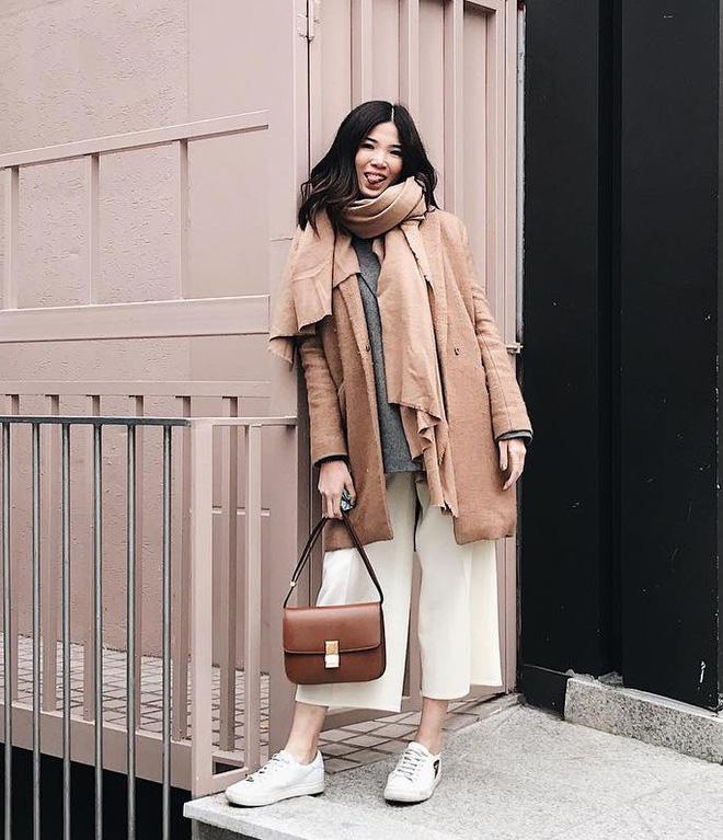 Áo khoác dài + quần ống rộng: Combo mặc kiểu gì cũng đẹp cho mùa đông năm nay - Ảnh 15.