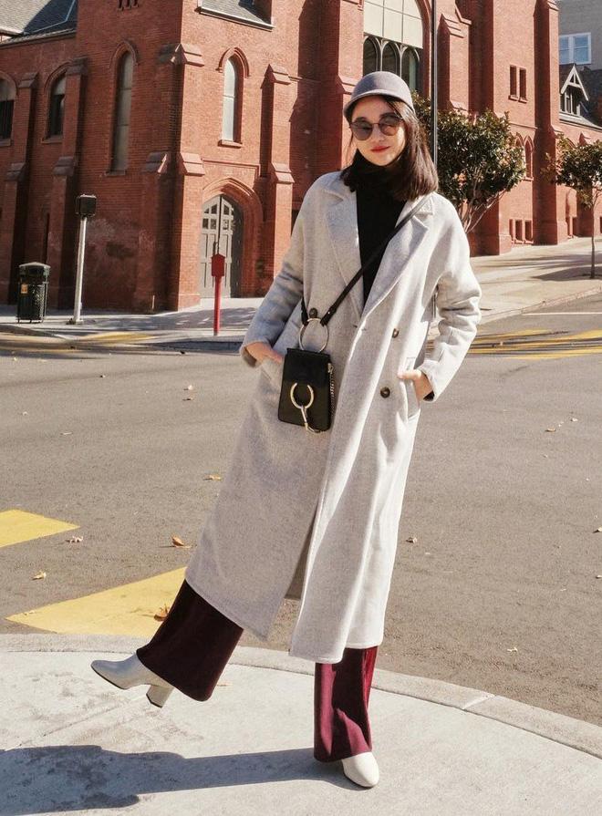 Áo khoác dài + quần ống rộng: Combo mặc kiểu gì cũng đẹp cho mùa đông năm nay - Ảnh 2.
