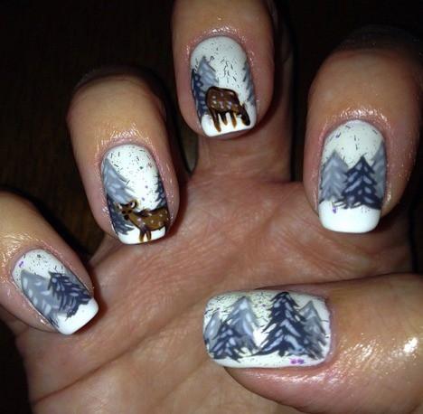 14 tác phẩm móng tay đẹp mắt dành cho bạn gái trong mùa đông