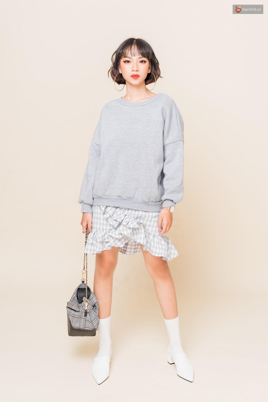 Mix áo len, áo nỉ với chân váy - Công thức nhắm mắt diện cũng đẹp để các nàng áp dụng ngay lúc này - Ảnh 1.
