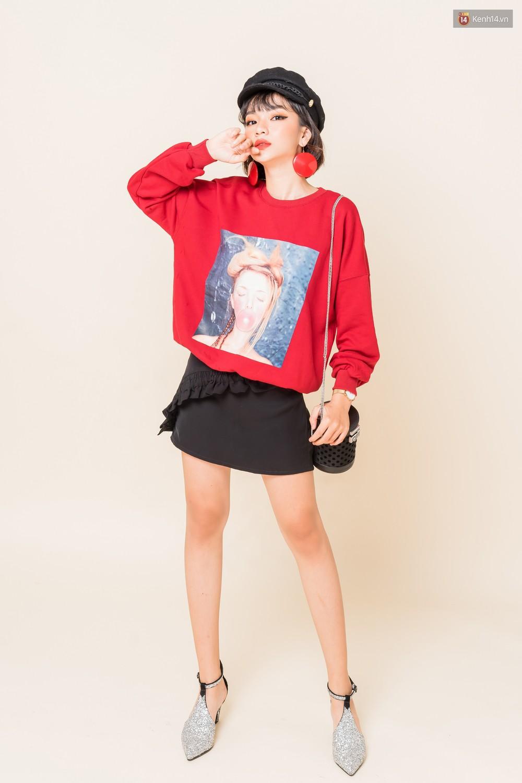 Mix áo len, áo nỉ với chân váy - Công thức nhắm mắt diện cũng đẹp để các nàng áp dụng ngay lúc này - Ảnh 13.