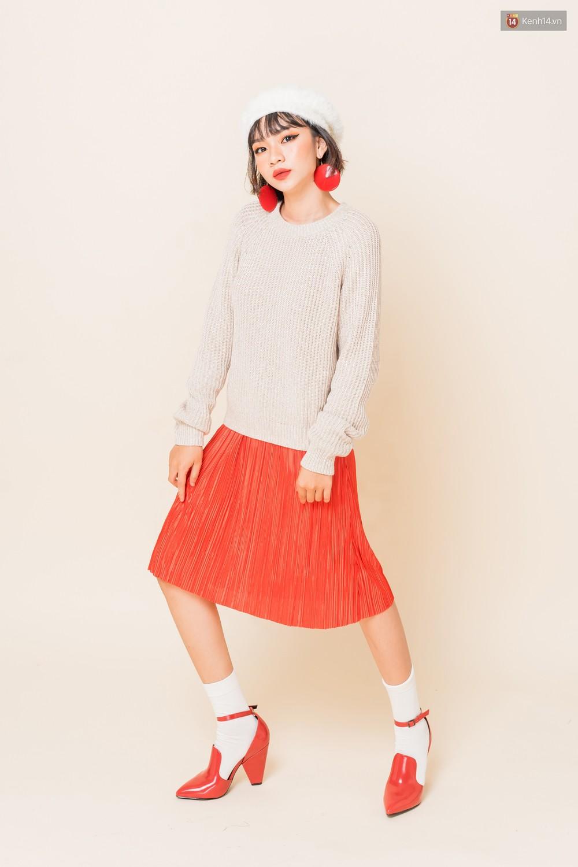 Mix áo len, áo nỉ với chân váy - Công thức nhắm mắt diện cũng đẹp để các nàng áp dụng ngay lúc này - Ảnh 4.