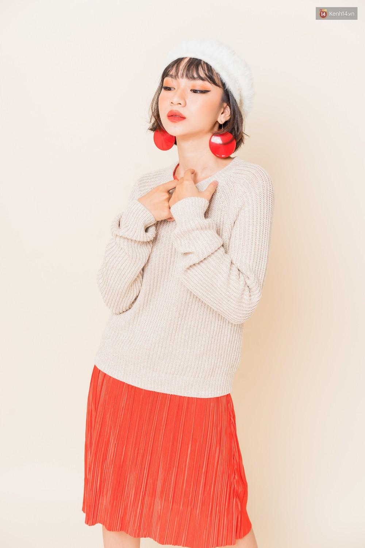 Mix áo len, áo nỉ với chân váy - Công thức nhắm mắt diện cũng đẹp để các nàng áp dụng ngay lúc này - Ảnh 6.