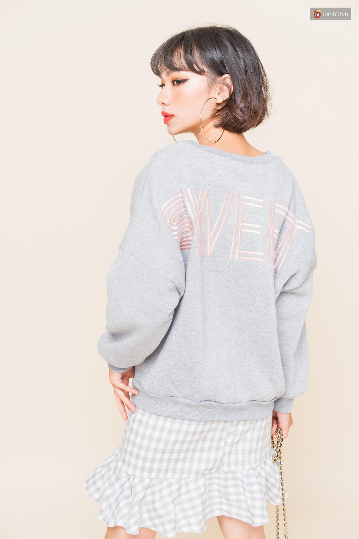 Mix áo len, áo nỉ với chân váy - Công thức nhắm mắt diện cũng đẹp để các nàng áp dụng ngay lúc này - Ảnh 3.