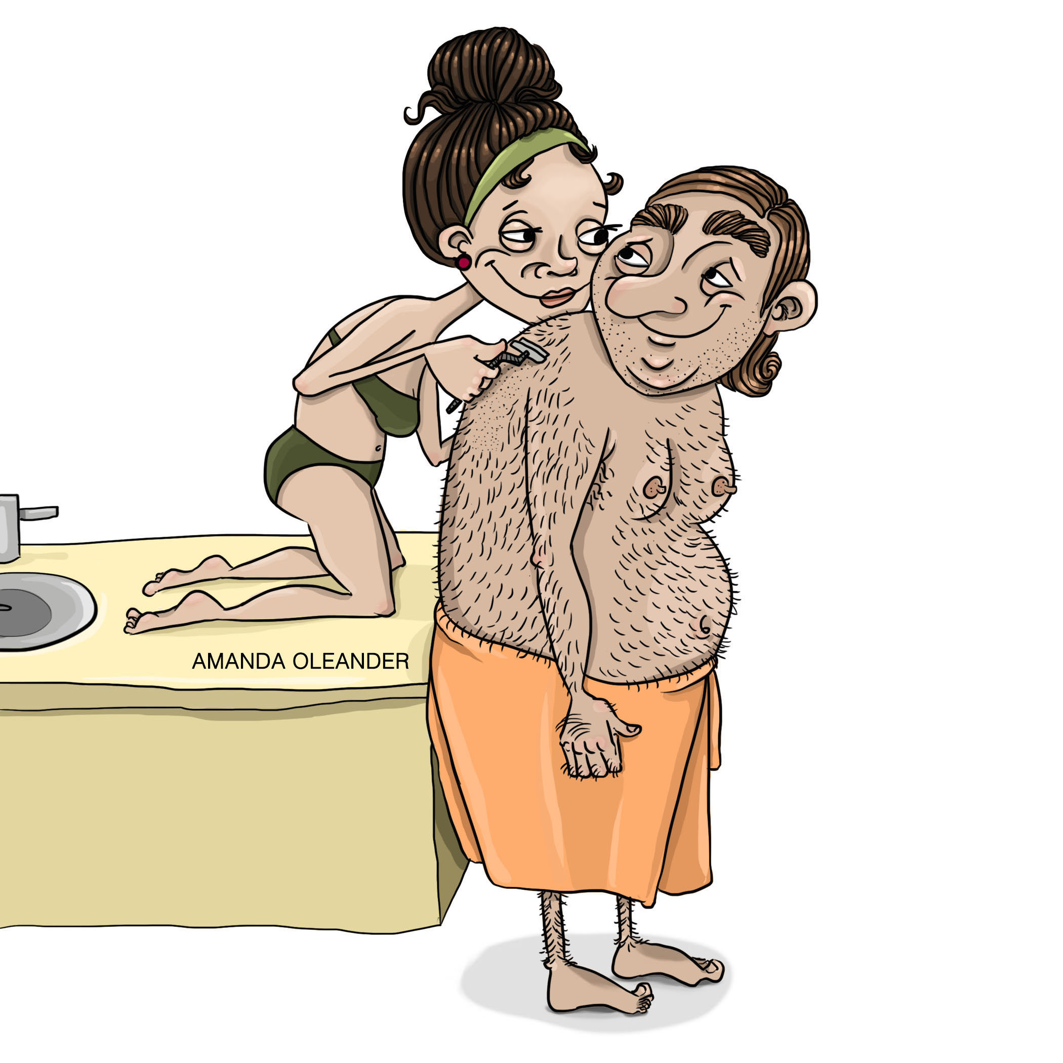 Bộ tranh minh họa hạnh phúc giản dị giấu sau cánh cửa của những cặp đôi đang yêu