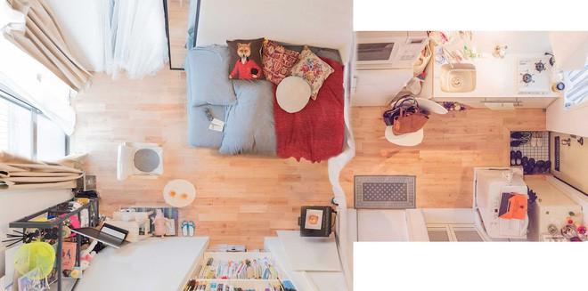 Căn hộ tí hon chưa đầy 20m² vừa đẹp, vừa gọn dù nhiều đồ nhờ sự bố trí nội thất rất thông minh của nữ nhiếp ảnh trẻ - Ảnh 1.