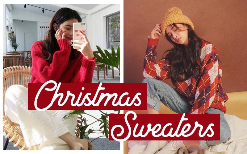 Đi chơi Giáng sinh nhất định phải diện áo len đỏ và đây là 12 gợi ý mix đồ với áo len đỏ xinh lung linh cho bạn