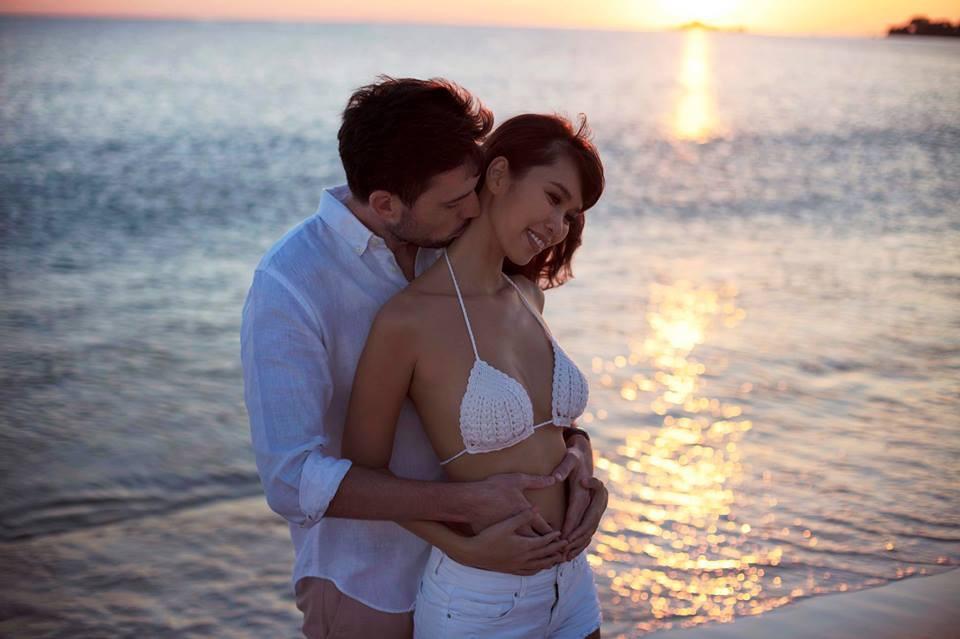 Siêu mẫu Hà Anh hạnh phúc thông báo tin đang mang thai con đầu lòng với chồng Tây - Ảnh 2.