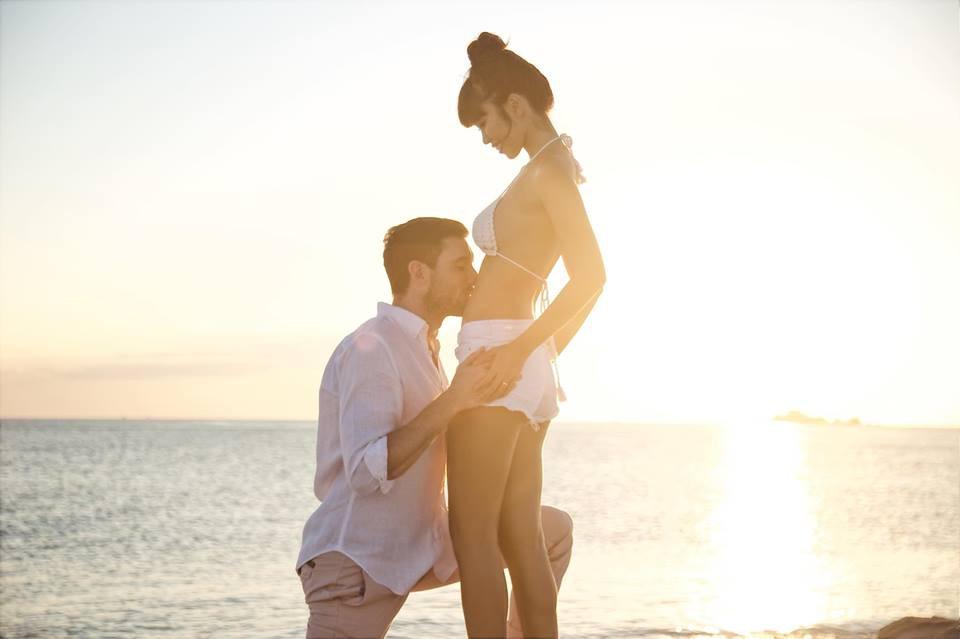 Siêu mẫu Hà Anh hạnh phúc thông báo tin đang mang thai con đầu lòng với chồng Tây - Ảnh 1.