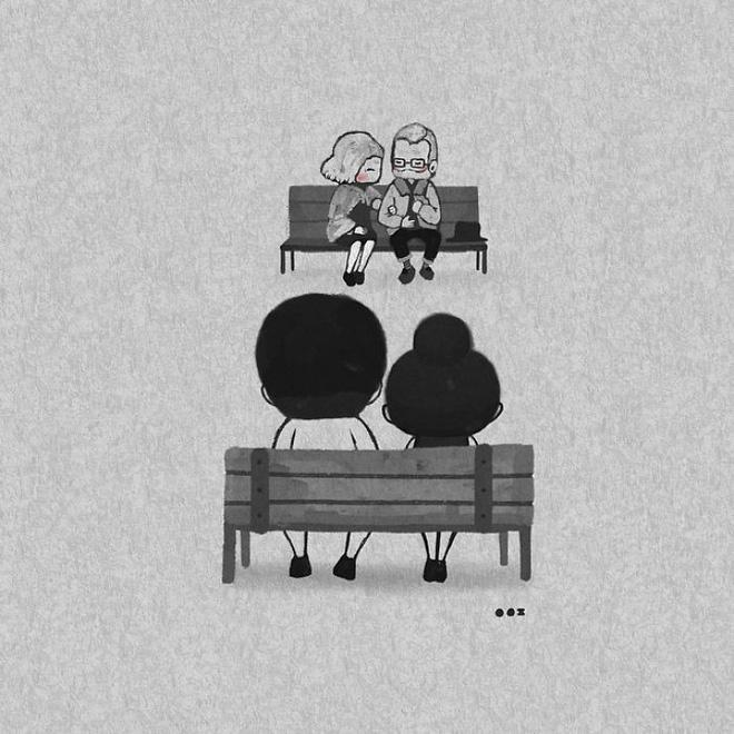 Bộ tranh: Yêu nhau giản đơn thế này thôi nhưng ai mà chẳng thích!