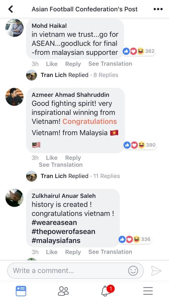 Lịch sử đã được tạo ra. Chúc mừng Việt Nam.