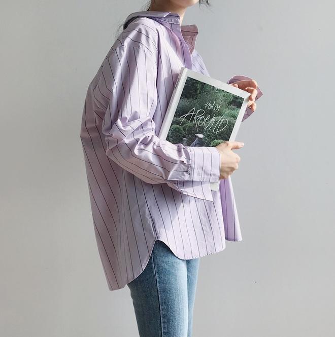 Tưởng sến mà lại xinh bất ngờ, sơ mi màu tím lavender dễ trở thành chiếc áo hot nhất mùa xuân này mà bạn nên để mắt tới - Ảnh 1.