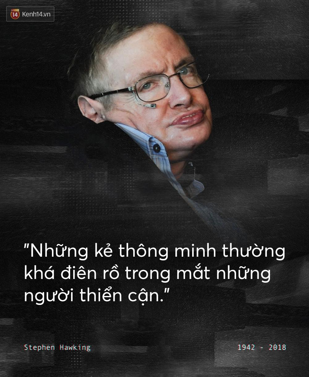 Những câu nói, quan điểm để đời của Stephen Hawking