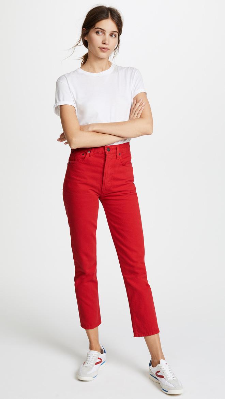 Zara cùng loạt thương hiệu khác lăng xê nhiệt tình mẫu quần jeans sắc màu trong hè này - Ảnh 5.