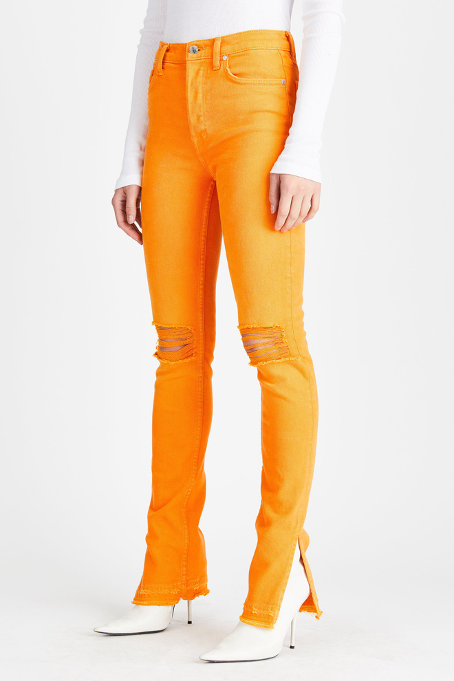 Zara cùng loạt thương hiệu khác lăng xê nhiệt tình mẫu quần jeans sắc màu trong hè này - Ảnh 2.