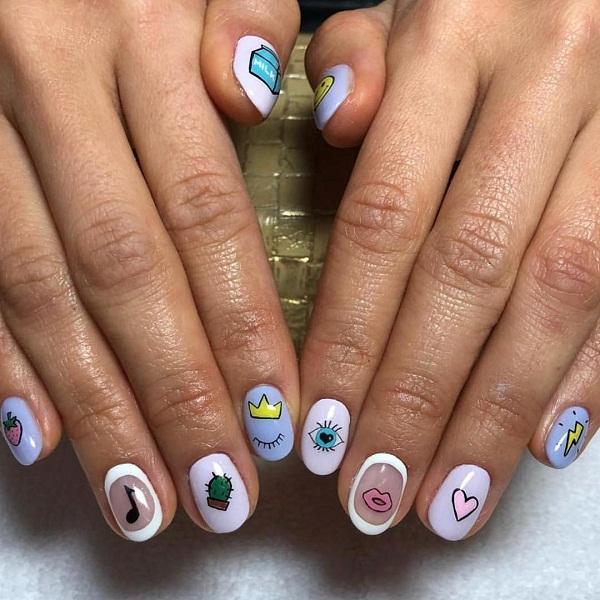 Gợi ý 12 mẫu nail cho cô nàng yêu thích phong cách nổi bật mùa hè 2018