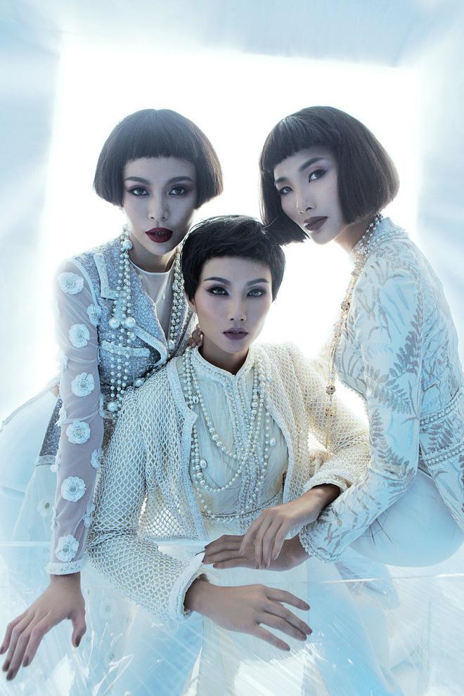 HHen Niê, Hoàng Thùy, Mâu Thủy khác lạ với tóc mái ngố - Ảnh 2.