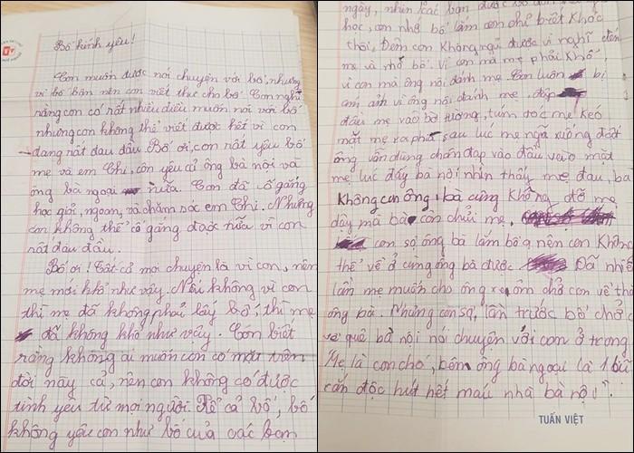 Xôn xao bức thư em bé viết cho bố và câu hỏi khiến ai cũng nghẹn ngào: Sao nhà mình khổ thế? - Ảnh 1.