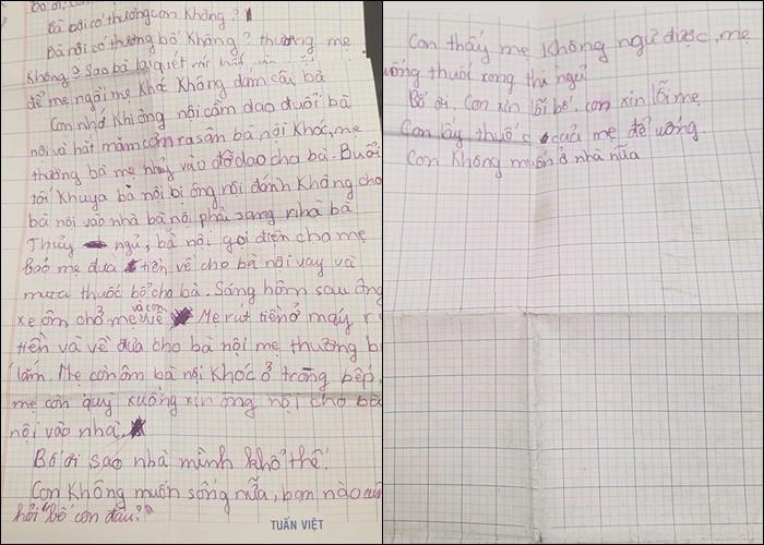 Xôn xao bức thư em bé viết cho bố và câu hỏi khiến ai cũng nghẹn ngào: Sao nhà mình khổ thế? - Ảnh 2.